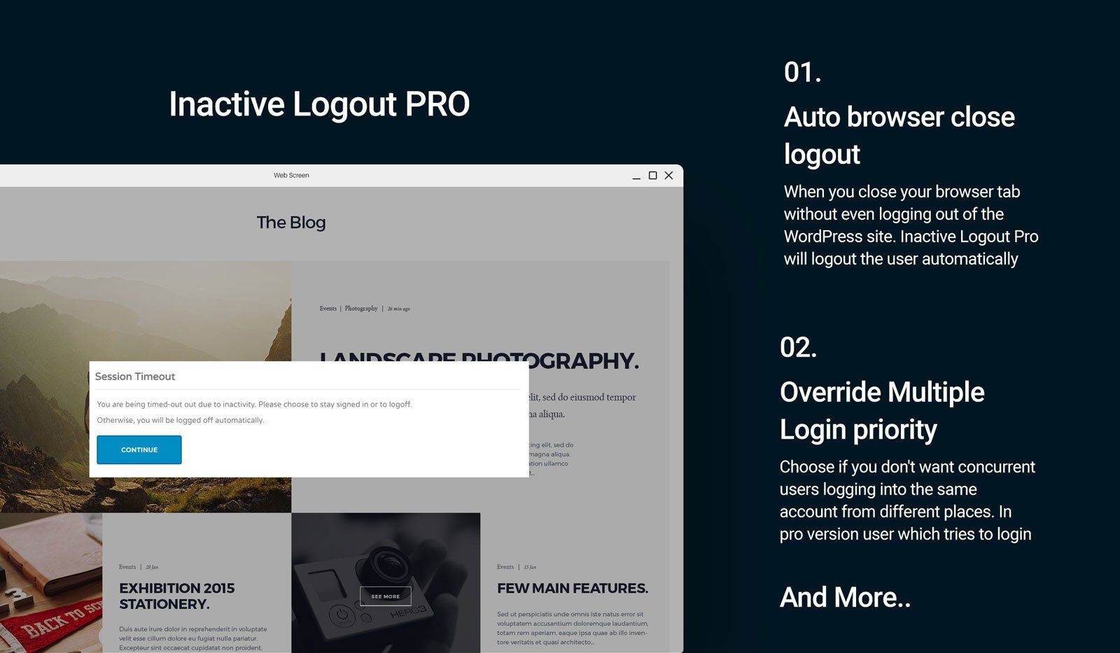 Inactive Logout Pro